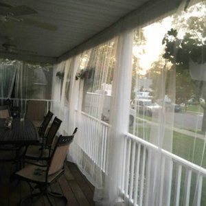 6 Panel White Netting mosquito Curtain ikea